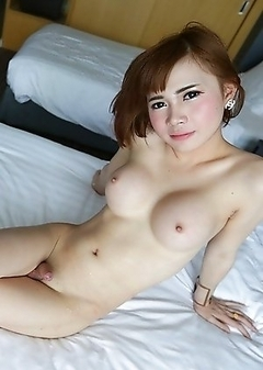 20 year old girlie girl Thai ladyboy Yuri sucks and fucks cock