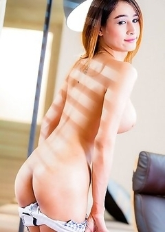 Fho is a funny and lively ladyboy from Bangkok. She has a slim body, cute ass and a nice uncut cock. She is versatile.